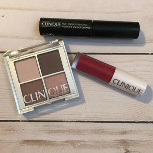 Clinique mascara + eye shadow + lip gloss